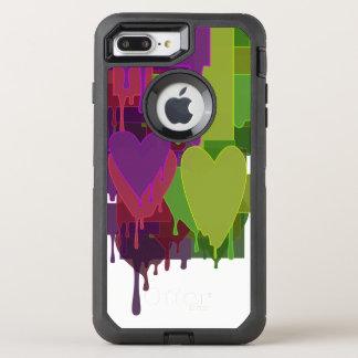 Capa Para iPhone 8 Plus/7 Plus OtterBox Defender Blocos da cor que derretem corações