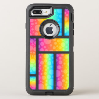 Capa Para iPhone 8 Plus/7 Plus OtterBox Defender Bolhas & teste padrão coloridos de Retrangle