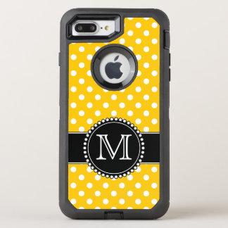 Capa Para iPhone 8 Plus/7 Plus OtterBox Defender Bolinhas amarelas, Monogrammed