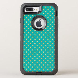 Capa Para iPhone 8 Plus/7 Plus OtterBox Defender Bolinhas elegantes - hortelã & Ouro