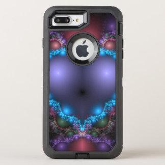 Capa Para iPhone 8 Plus/7 Plus OtterBox Defender Calor azul abstrato com franja de néon