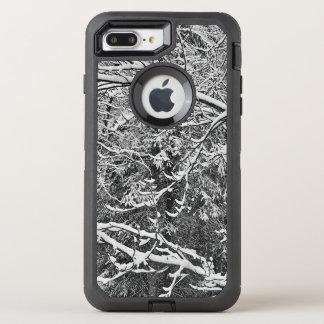 Capa Para iPhone 8 Plus/7 Plus OtterBox Defender Camouflauge preto e branco mim capa de telefone