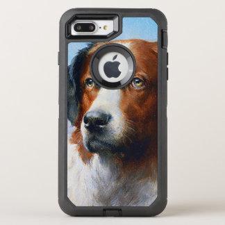 Capa Para iPhone 8 Plus/7 Plus OtterBox Defender Cão de St Bernard do vintage