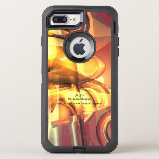 Capa Para iPhone 8 Plus/7 Plus OtterBox Defender Caso de OtterBox do abstrato da mosca do fogo