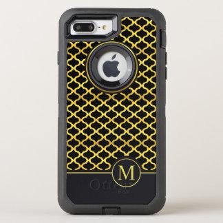 Capa Para iPhone 8 Plus/7 Plus OtterBox Defender Caso sem emenda do monograma | Otterbox do ouro