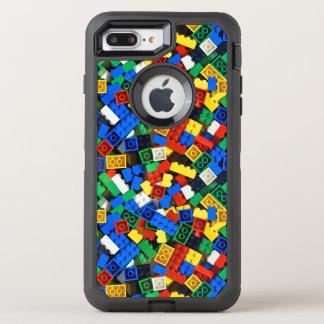 Capa Para iPhone 8 Plus/7 Plus OtterBox Defender Construção dos tijolos da construção dos blocos de