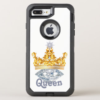 Capa Para iPhone 8 Plus/7 Plus OtterBox Defender Coroa do ouro da rainha & diamantes, caso de
