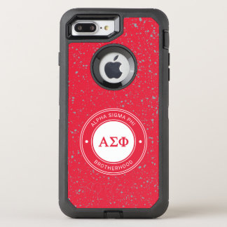 Capa Para iPhone 8 Plus/7 Plus OtterBox Defender Crachá alfa da phi | do Sigma