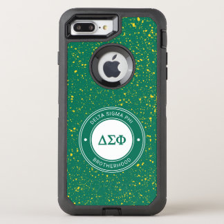 Capa Para iPhone 8 Plus/7 Plus OtterBox Defender Crachá da phi | do Sigma do delta