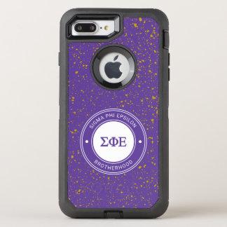 Capa Para iPhone 8 Plus/7 Plus OtterBox Defender Crachá do épsilon | da phi do Sigma