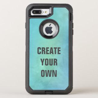 Capa Para iPhone 8 Plus/7 Plus OtterBox Defender Criar sua própria pintura da aguarela de turquesa