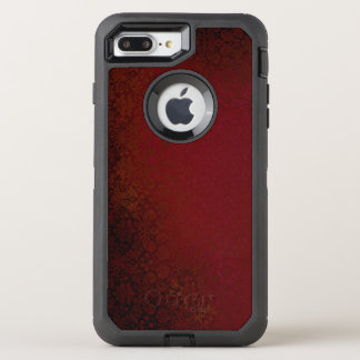 Capa Para iPhone 8 Plus/7 Plus OtterBox Defender Damasco do vermelho do rubi