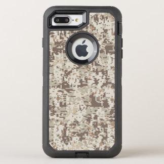 Capa Para iPhone 8 Plus/7 Plus OtterBox Defender Decoração bege da camuflagem de Digitas do deserto