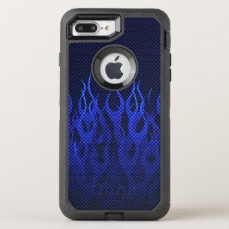 Capa Para iPhone 8 Plus/7 Plus OtterBox Defender Decoração das chamas azuis em a