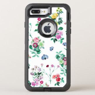 Capa Para iPhone 8 Plus/7 Plus OtterBox Defender Design feminino romântico bonito da flor