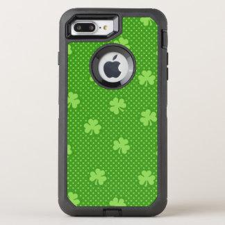 Capa Para iPhone 8 Plus/7 Plus OtterBox Defender Dia verde de Patricks do santo do teste padrão do