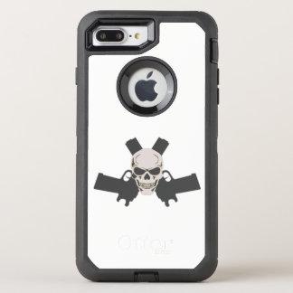 Capa Para iPhone 8 Plus/7 Plus OtterBox Defender Dois pistolas & crânios, caixa branca de Otterbox