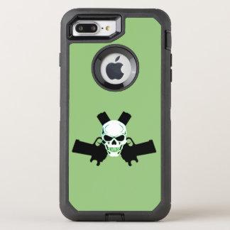 Capa Para iPhone 8 Plus/7 Plus OtterBox Defender Dois pistolas & crânios, caixa verde de Otterbox