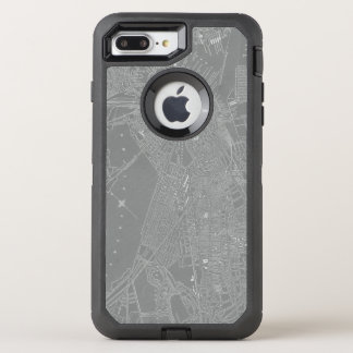 Capa Para iPhone 8 Plus/7 Plus OtterBox Defender Esboço do mapa da cidade de Boston
