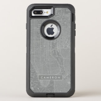 Capa Para iPhone 8 Plus/7 Plus OtterBox Defender Esboço do mapa da Nova Iorque