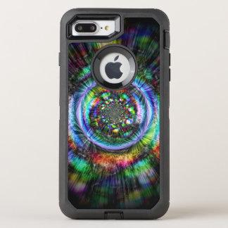 Capa Para iPhone 8 Plus/7 Plus OtterBox Defender Esboço psicadélico colorido de um olho