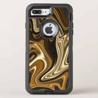 Capa Para iPhone 8 Plus/7 Plus OtterBox Defender Estilo de mármore lindo - marrom morno