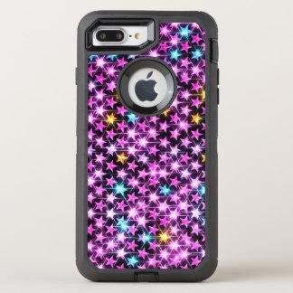 Capa Para iPhone 8 Plus/7 Plus OtterBox Defender estrelas brilhantes roxas coloridas bonitas