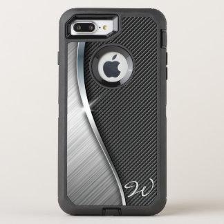 Capa Para iPhone 8 Plus/7 Plus OtterBox Defender Fibra do carbono & metal escovado 4