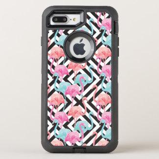 Capa Para iPhone 8 Plus/7 Plus OtterBox Defender Flamingos no teste padrão corajoso do design