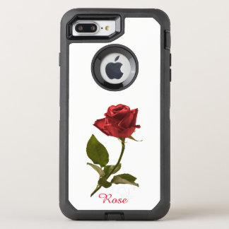 Capa Para iPhone 8 Plus/7 Plus OtterBox Defender Flor cortada da rosa vermelha fotografia floral