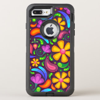Capa Para iPhone 8 Plus/7 Plus OtterBox Defender Flor do Hippie - capas de iphone
