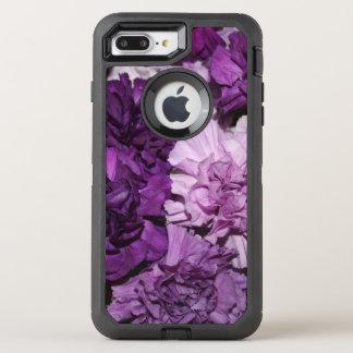 Capa Para iPhone 8 Plus/7 Plus OtterBox Defender Flores roxas do cravo