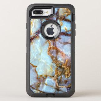 Capa Para iPhone 8 Plus/7 Plus OtterBox Defender Forma e na moda de pedra de mármore da textura  