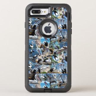 Capa Para iPhone 8 Plus/7 Plus OtterBox Defender Foto Collarge do pelicano,