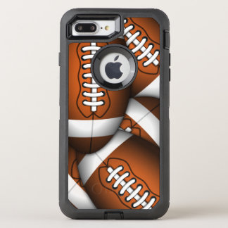 Capa Para iPhone 8 Plus/7 Plus OtterBox Defender Futebol americano do teste padrão viril dos