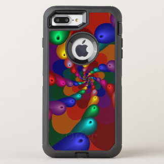 Capa Para iPhone 8 Plus/7 Plus OtterBox Defender Gotas metálicas de roda da cor