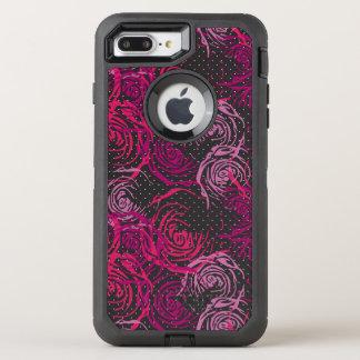 Capa Para iPhone 8 Plus/7 Plus OtterBox Defender Impressão dos rosas