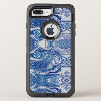Capa Para iPhone 8 Plus/7 Plus OtterBox Defender iPhone azul de Apple do marbl 8 Plus/7 mais o