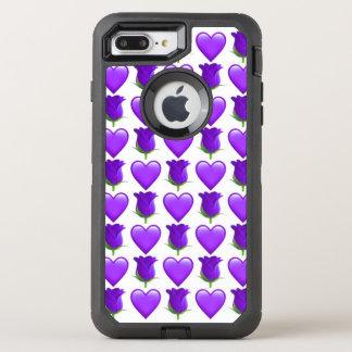 Capa Para iPhone 8 Plus/7 Plus OtterBox Defender iPhone de Emoji do rosa do roxo 8/7 de caso
