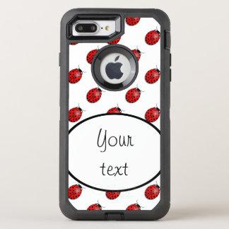Capa Para iPhone 8 Plus/7 Plus OtterBox Defender Joaninhas no vermelho