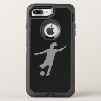 Capa Para iPhone 8 Plus/7 Plus OtterBox Defender Jogador de futebol da mulher