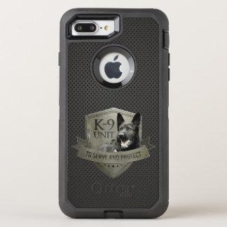 Capa Para iPhone 8 Plus/7 Plus OtterBox Defender K-9 unidade GSD - cão de german shepherd de