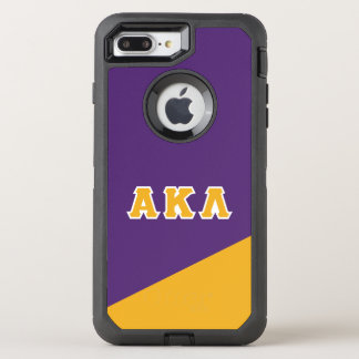 Capa Para iPhone 8 Plus/7 Plus OtterBox Defender Letras alfa do grego do Lambda | do Kappa