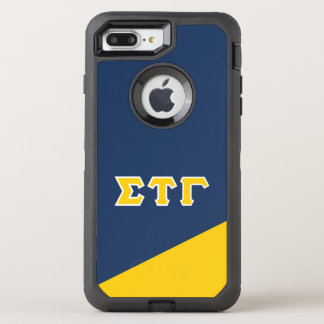 Capa Para iPhone 8 Plus/7 Plus OtterBox Defender Letras do grego da gama | da tau do Sigma