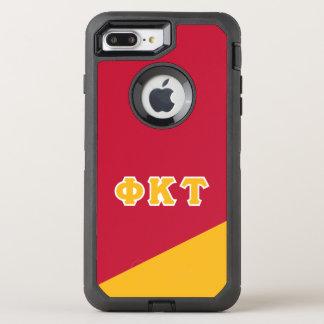 Capa Para iPhone 8 Plus/7 Plus OtterBox Defender Letras do grego da tau   do Kappa da phi