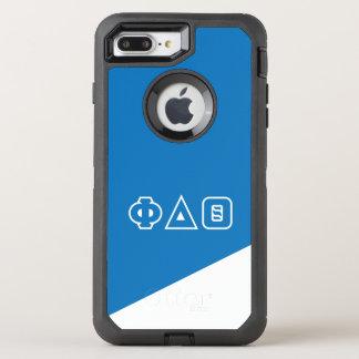 Capa Para iPhone 8 Plus/7 Plus OtterBox Defender Letras do grego da teta | do delta da phi