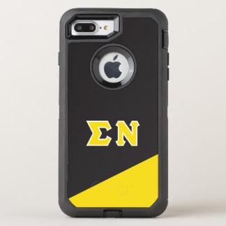 Capa Para iPhone 8 Plus/7 Plus OtterBox Defender Letras do grego do NU | do Sigma