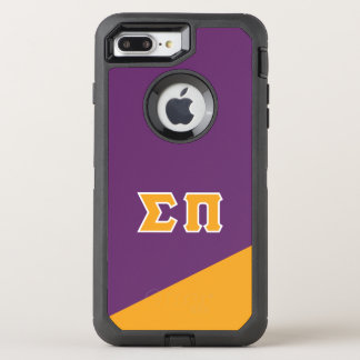 Capa Para iPhone 8 Plus/7 Plus OtterBox Defender Letras do grego do Pi | do Sigma