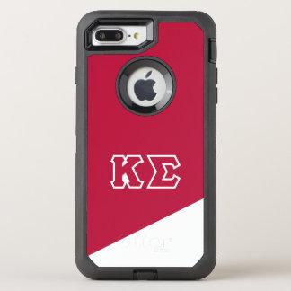 Capa Para iPhone 8 Plus/7 Plus OtterBox Defender Letras do grego do Sigma | do Kappa
