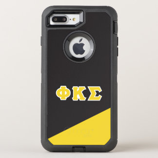 Capa Para iPhone 8 Plus/7 Plus OtterBox Defender Letras do grego do Sigma | do Kappa da phi